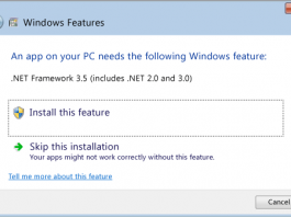 how to install dot net framework in windows